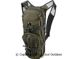 Alta rucksack in melton wool  Hunting green