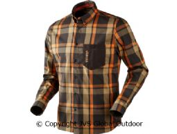 Amlet L/S shirt Shadow brown check