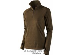 Coldfront Lady shirt zip-neck  Hunting green