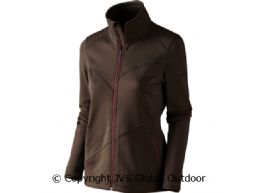 Disa Lady fleece jacket Demitasse brown melange