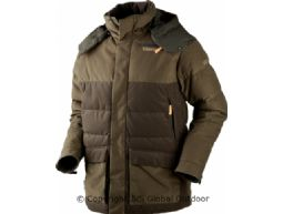 Expedition down jacket  Hunting green/Shadow brown