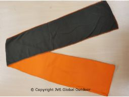 Fleece sjaal groen/orange