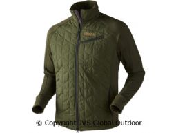 Hjartvar Insulated Hybrid Jacket  Dark rifle green/Rifle green melange