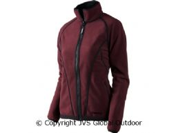 Kanu Lady fleece jacket  Burgundy/Pirate black