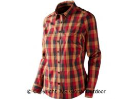 Lara Lady L/S shirt Red/Black check
