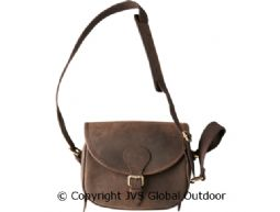 Leather cartridge bag  Shadow brown