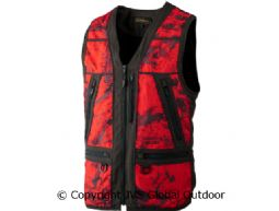 Lynx Safety waistcoat AXIS MSP® Red Blaze/Shadow brown