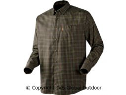 Milford shirt Dark olive check