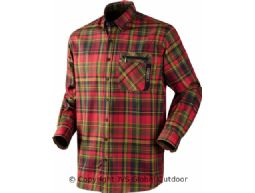 Härkila Newton shirt Fiery red check