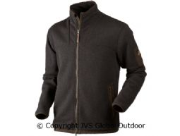 Norja HSP full zip cardigan Shadow brown melange
