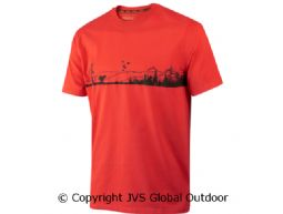 Odin Hunter & dog T-shirt  Fiery red