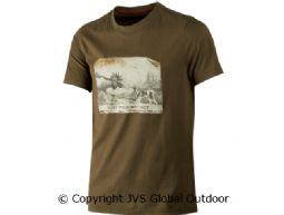 Odin Moose & Dog t-shirt Willow green