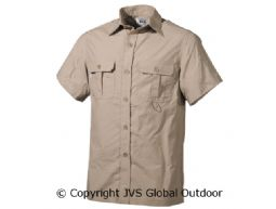 Outdoor Shirt, korte mouwen, khaki