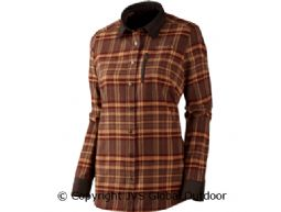 Pajala Lady L/S shirt Burgundy check
