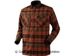 Pajala shirt Burnt orange check