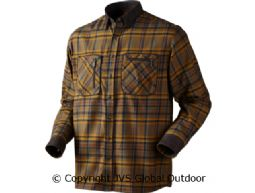 Pajala shirt Tobacco check