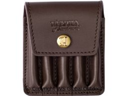 Rifle cartridge cover in leather  Brown