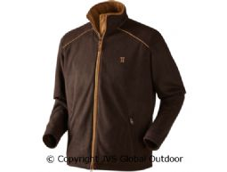 Sandhem fleece jacket Dark port melange