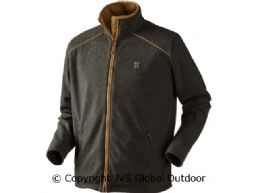 Sandhem fleece jacket Earth grey melange