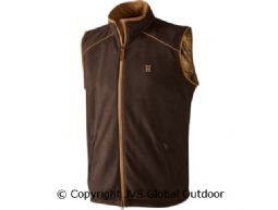 Sandhem fleece vest Dark port melange