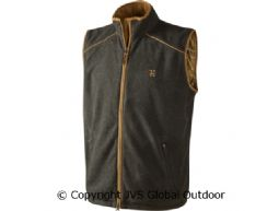 Sandhem fleece vest Earth grey melange
