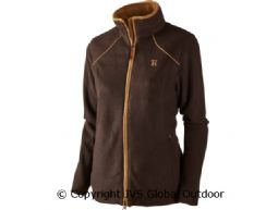 Sandhem Lady fleece jacket Dark port melange