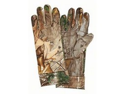 Scent-A-Way® Silver Spandex Unlined Gloves-Realtree® Xtra™