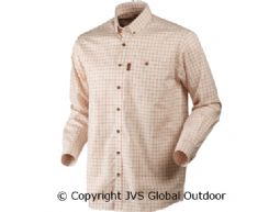 Stenstorp shirt Burnt orange check/ Button-under