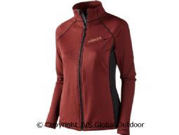 Vestmar Hybrid Lady fleece jacket Syrah red melange