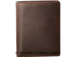 Wallet w/coin room Dark brown - 9,5 x 12 x 1,5 cm